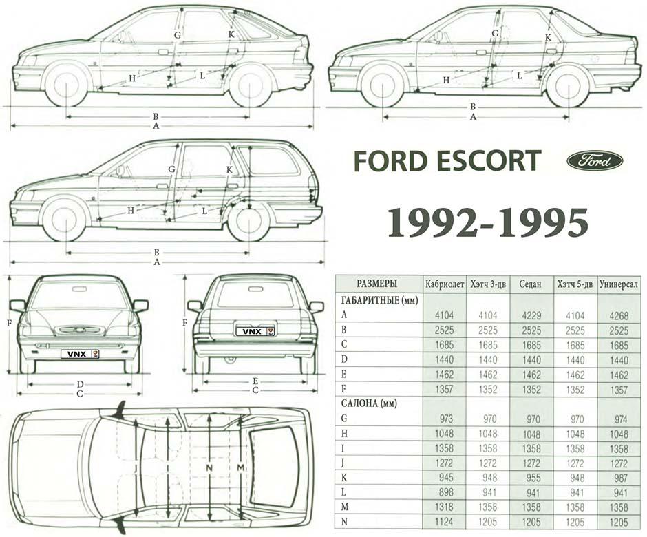 Ford Escort Lx Sheme Tail